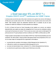 Enquete-Orsyp-ITSMF-ITIL-2012